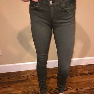 Green rag & bone jean
